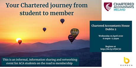 Your Chartered journey from student to member tickets