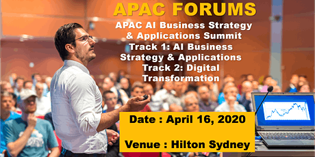 APAC AI Strategy & Digital Transformation Day-Sydney-16 April 2020 tickets