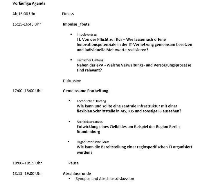 TI |Vernetzung: Regionale Vernetzungsallianz – Berlin u. Brandenburg: Bild