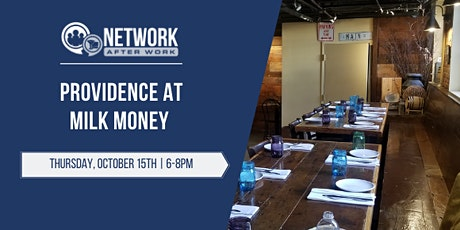 Network After Work Providence at Milk Money tickets