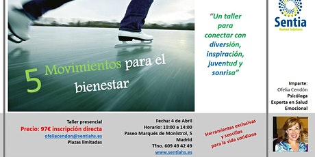TALLER 5 MOVIMIENTOS PARA EL BIENESTAR entradas