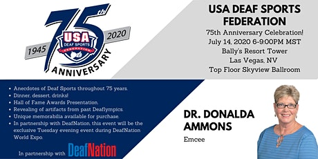 USADSF 75th Anniversary Celebration featuring emcee, Dr. Donalda Ammons! tickets