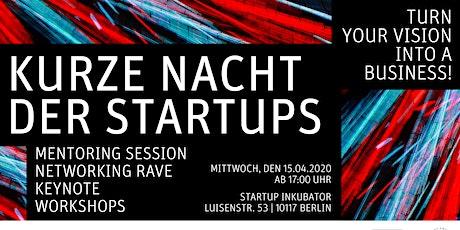 Kurze Nacht der Startups @ HU Startup Inkubator tickets