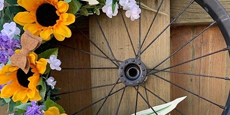 Upcycled Bicycle Rim Wreath Workshop tickets