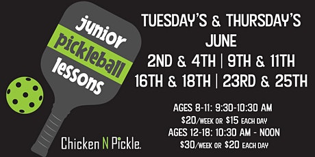 Junior Pickleball Lessons tickets