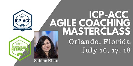 ICAgile ICP-ACC Agile Coach Certification Workshop - Orlando, Florida tickets