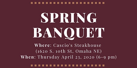 PLS Spring Banquet 2020 - Student Ticket tickets