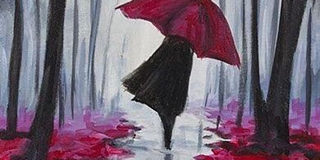 Red Umbrella In the Rain - Social Art Class tickets