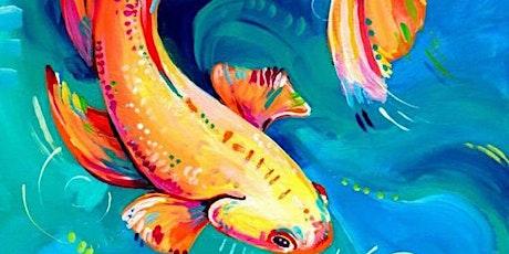 Vibrant Gold Fish - Social Art Class tickets
