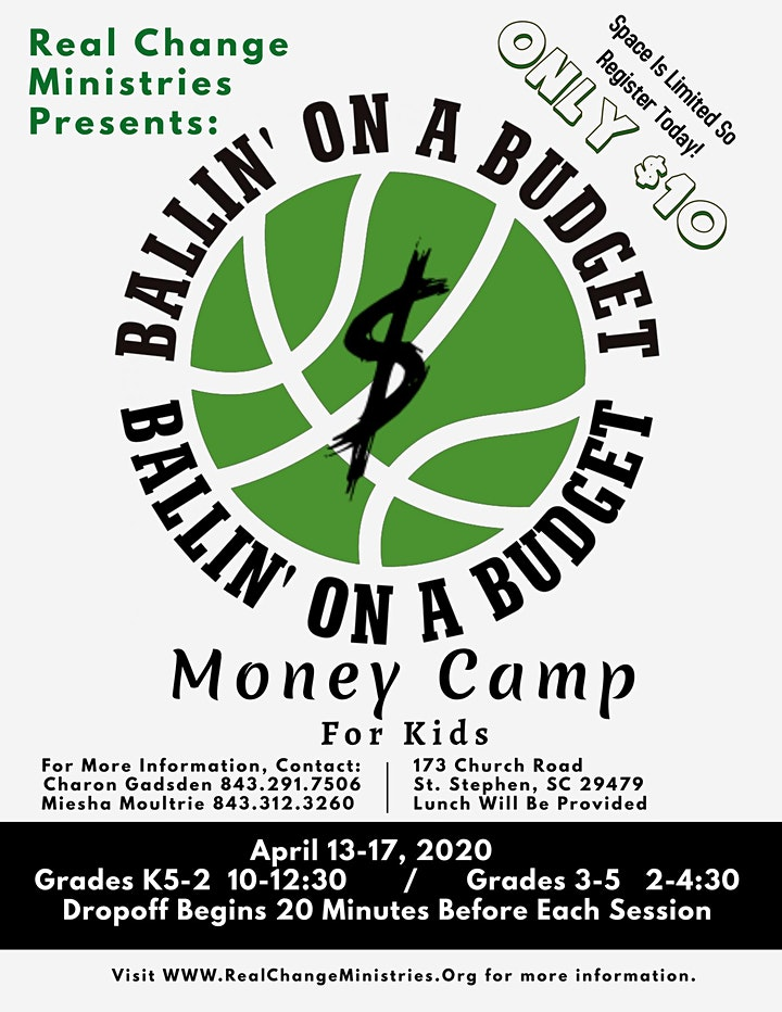 Ballin' On A Budget Money Camp  for Kids image