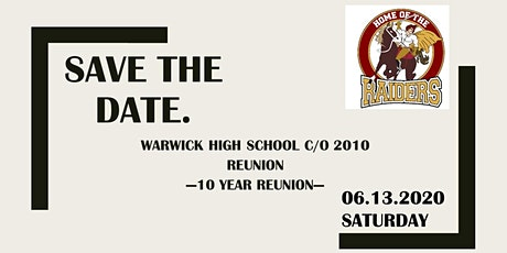 Warwick High School Class of 2010 (10 Year) Reunion tickets