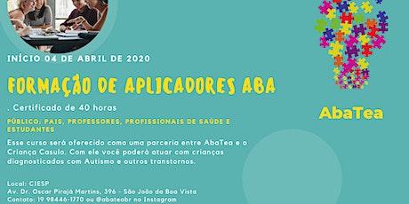 Formação de Aplicadores ABA ingressos