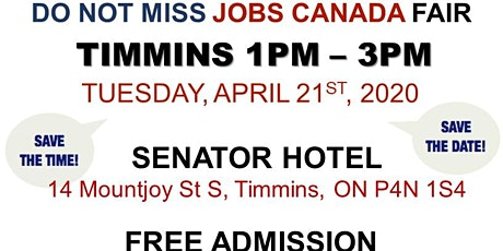Timmins Job Fair - April 21st, 2020 tickets