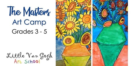 Summer Art Camp with the Masters  Grades 3-5	Week 1 tickets