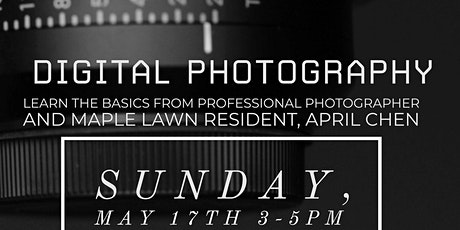 Digital Photography Course tickets