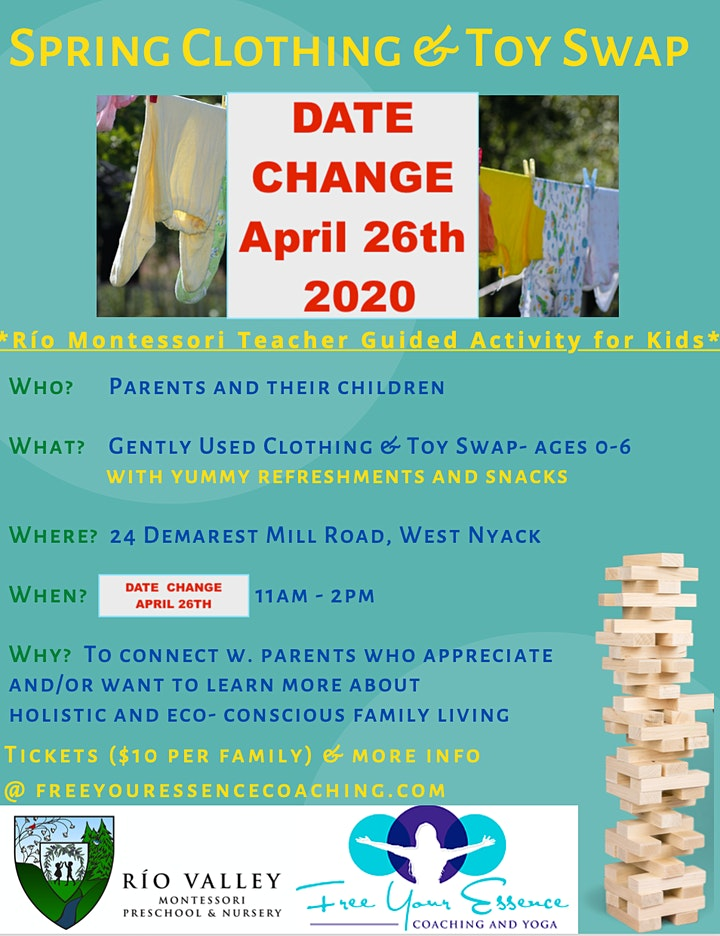 Spring Clothing & Toy Swap with The Eco Conscious Parenting Community image