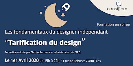 """Atelier """"Tarification du design"""" à l'AFD billets"""