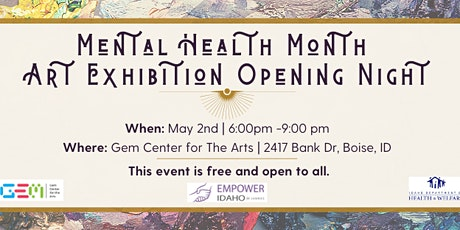 Mental Health Month Art Exhibition Opening Night tickets
