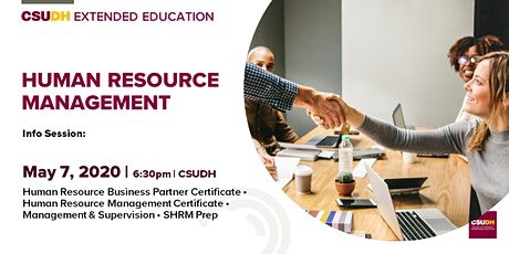 Info Sessions: Human Resources Management Programs | CSUDH (5/7/20) tickets