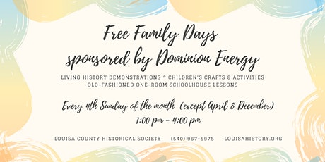 MOVED ONLINE - Free Family Day sponsored by Dominion Energy tickets