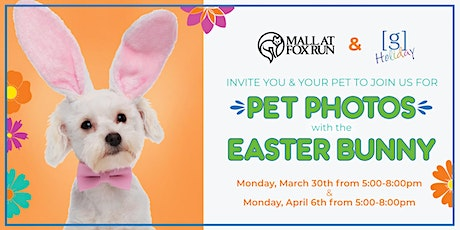 Pet Photos with The Easter Bunny at The Mall at Fox Run tickets
