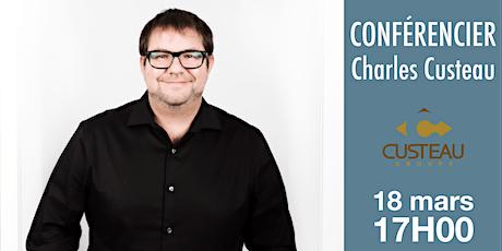 Reporté 5 à 7 Histoire d'entrepreneur avec Charles Custeau tickets