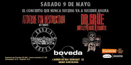 Attitude For Destruction BCN - Guns N' Roses Tribute y Dr Crüe en Barcelona entradas