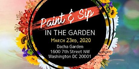 """Paint & Sip in the Garden"" tickets"