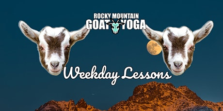 Goat Yoga Weekday Lessons - April 15th (RMGY Studio) tickets
