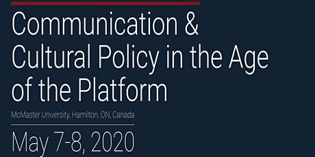 Communication & Cultural Policy in the Age of the Platform tickets