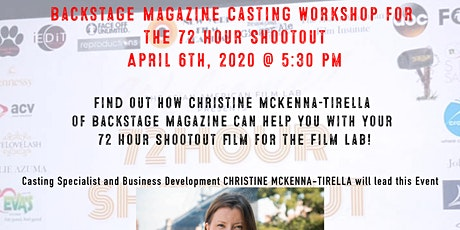 Backstage Magazine Casting Workshop for the 72 Hour Shootout tickets