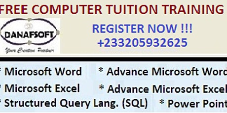 FREE COMPUTER TUITION TRAINING tickets