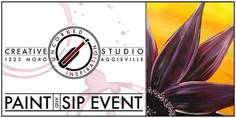 Paint & Sip | Purple Petals tickets