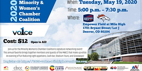 2020 Minority and Women's Chamber Coalition: Community Event at Empower Field at Mile High tickets