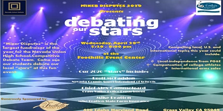 """Miner Disputes 2020 - """"Debating our Stars"""" tickets"""