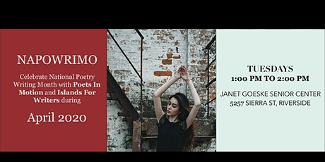Poets In Motion NAPOWRIMO (National Poetry Writing Month) Online tickets