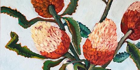 Banksia Flowers - Social Art Class tickets