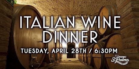 Italian Wine Dinner at 3 Palms Pinecrest tickets