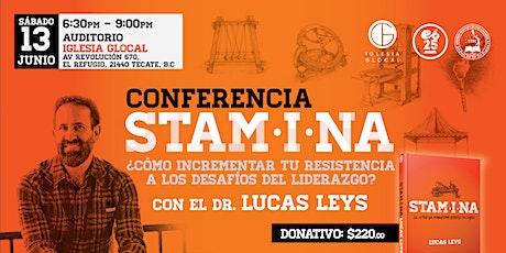 CONFERENCIA STAMINA LUCAS LEYS boletos