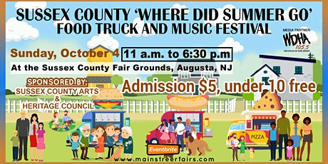 Sussex County 'Where Did Summer Go' Food Truck and Music Festival tickets