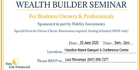 Wealth Builder Seminar tickets
