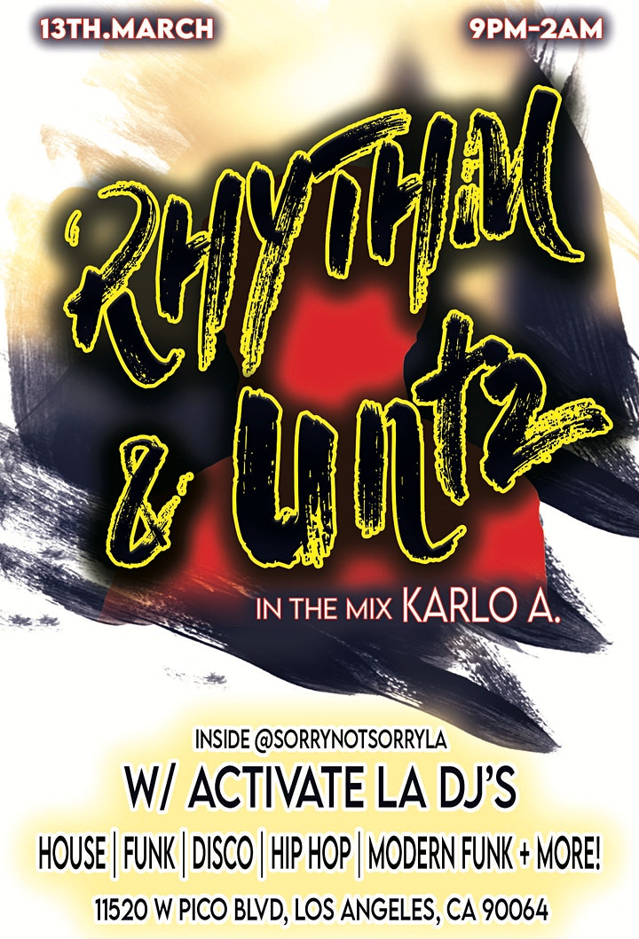 Rhythm & UNTZ x  NO COVER! image