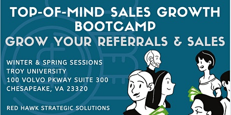 Top-of-Mind Sales Growth Bootcamp- Grow Your Referrals & Sales tickets