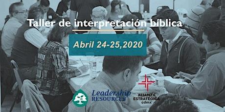 Taller de Interpretación Biblica entradas
