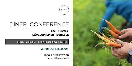 DÎNER CONFÉRENCE _ Nutrition & développement durable_Spring Bierges billets