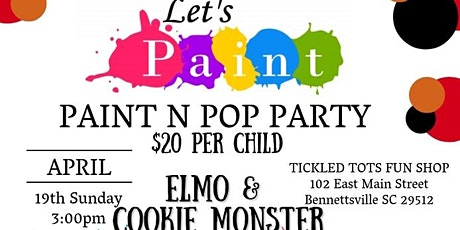 Paint & Pop Featuring Elmo and Cookie Monster tickets