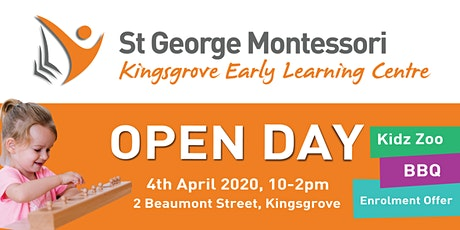 St George Montessori Kingsgrove Open Day April 2020 tickets
