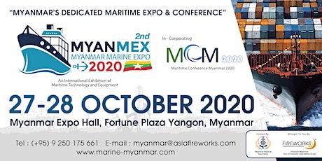 Myanmar Marine Expo (MYANMEX) 2020 tickets