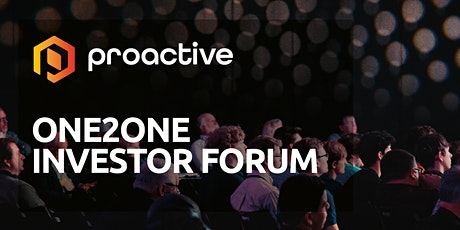 Proactive One2One Forum - 30th April   tickets