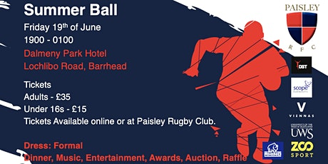 Paisley Rugby Club Summer Ball tickets